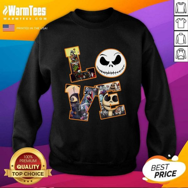Love Jack Skellington The Nightmare Before Christmas SweatShirt - Design By Warmtees.com
