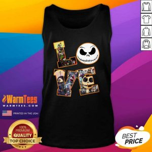 Love Jack Skellington The Nightmare Before Christmas Tank Top - Design By Warmtees.com