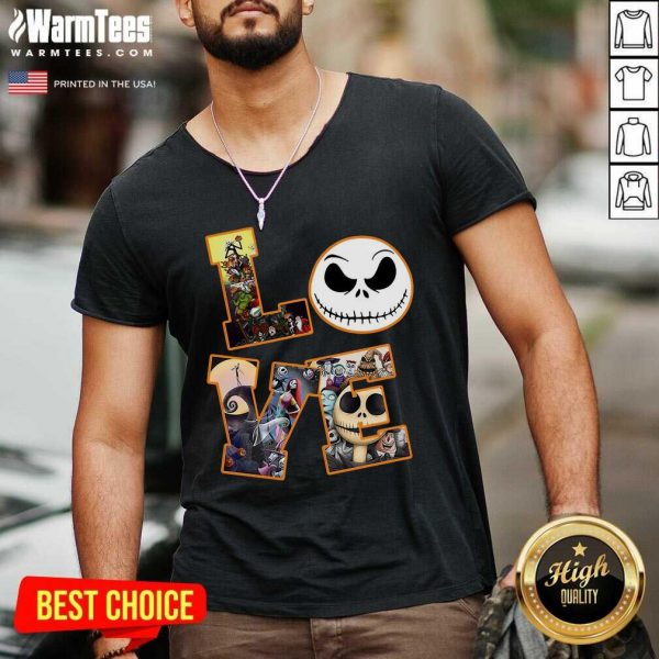 Love Jack Skellington The Nightmare Before Christmas V-neck - Design By Warmtees.com