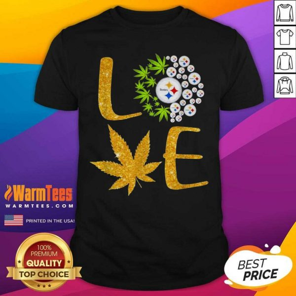 Love Steelers Cannabis Football Shirt - Design By Warmtees.com