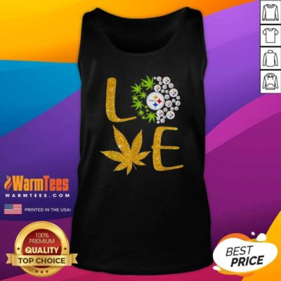 Love Steelers Cannabis Football Tank Top - Design By Warmtees.com