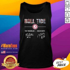 Roll Tide Alabama Crimson Tide Football Tua Tagovailoa Jalen Hurts Signatures Tank Top - Design By Warmtees.com