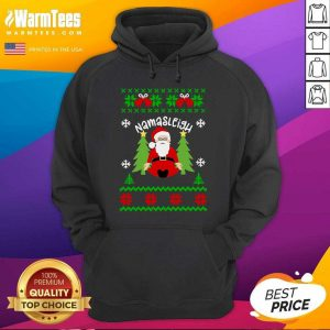 Santa Yoga Namasleigh Ugly Christmas Hoodie - Design By Warmtees.com