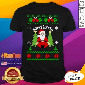 Santa Yoga Namasleigh Ugly Christmas Shirtv - Design By Warmtees.com