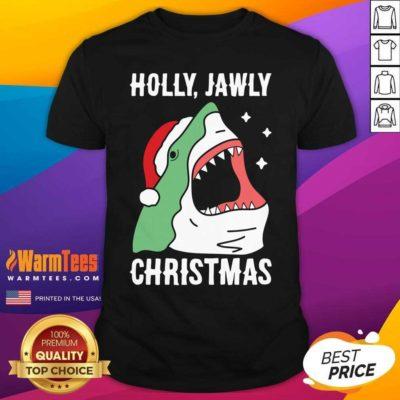 Shark Holly Jawly Christmas Shirt - Design By Warmtees.com