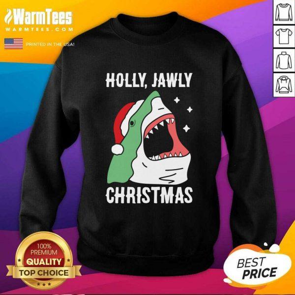 Good Shark Holly Jawly Christmas SweatShirt - Design By Warmtees.com