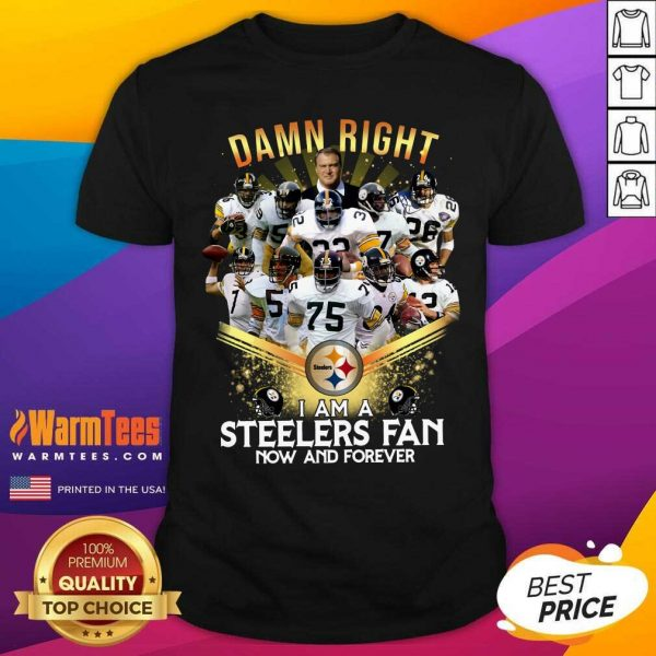 2020 Damn Right I Am A Steelers Fan Now And Forever Shirt - Design By Warmtees.com
