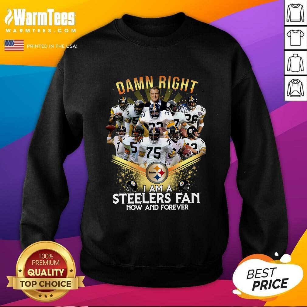 2020 Damn Right I Am A Steelers Fan Now And Forever SweatShirt  - Design By Warmtees.com