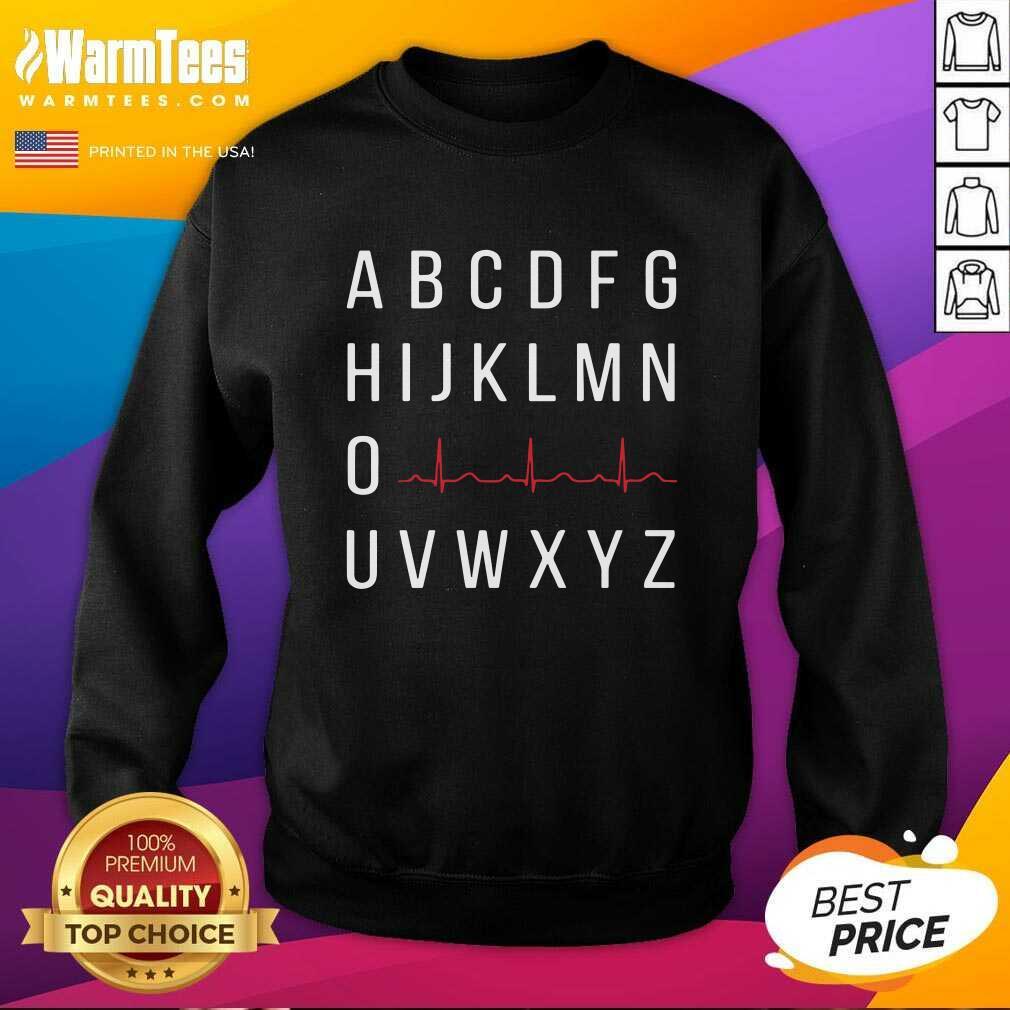A B C D E F G H I J K L M N O Heartbeat U V W X Y Z Nurse SweatShirt  - Design By Warmtees.com