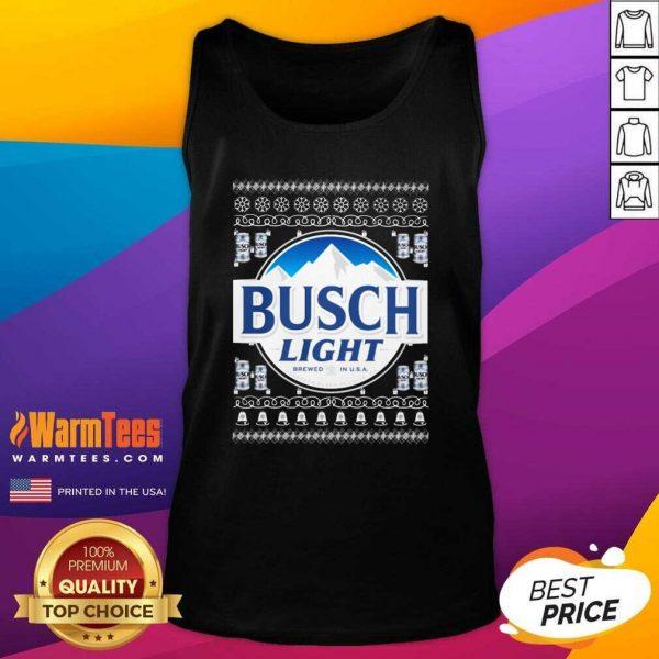 Busch Light 2020 Ugly Christmas Tank Top - Design By Warmtees.com