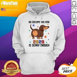 Dachshund No Costume This Year 2020 Is Scary Enough Coronavirus Hoodie - Design By Warmtees.com