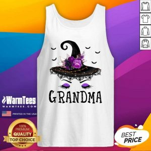 Grandma Witch Hat Halloween Tank Top - Design By Warmtees.com