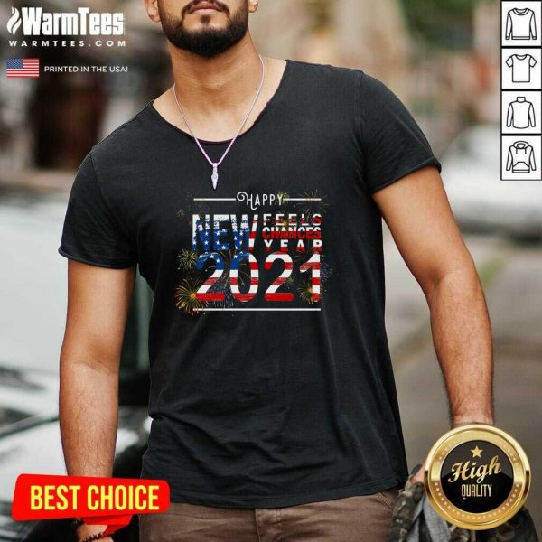 Happy New Feels Chances Year 2021 V-neck - Design By Warmtees.com