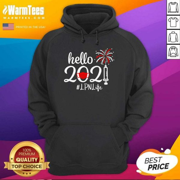 Hello 2021 LPN Life Face Mask Christmas Hoodie - Design By Warmtees.com