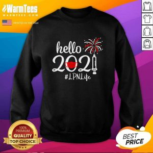 Hello 2021 LPN Life Face Mask Christmas SweatShirt - Design By Warmtees.com