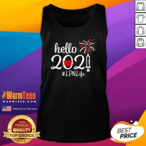 Hello 2021 LPN Life Face Mask Christmas Tank Top - Design By Warmtees.com