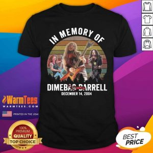 In Memory Of Dimebag Darrell December 14 2004 Vintage Signature Shirt - Design By Warmtees.com