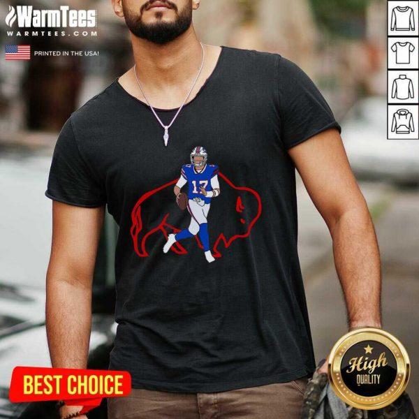 Josh Allen Buffalo Bills V-neck - Design By Warmtees.com