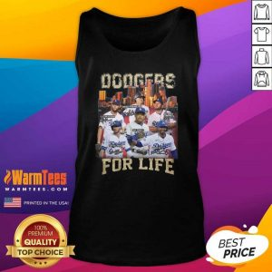 Los Angeles Dodgers Baseball For Life Signatures Tank Top - Design By Warmtees.com