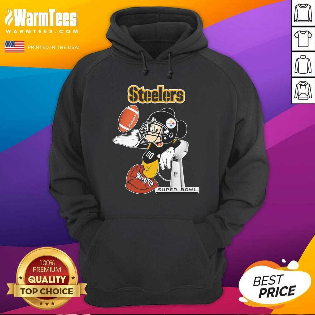 Mickey Mouse Pittsburgh Steelers Super Bowl Hoodie  - Design By Warmtees.com