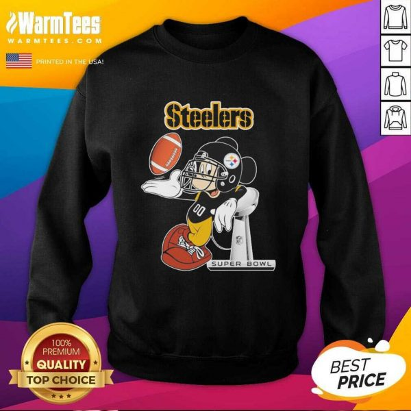 Mickey Mouse Pittsburgh Steelers Super Bowl SweatShirt - Design By Warmtees.com