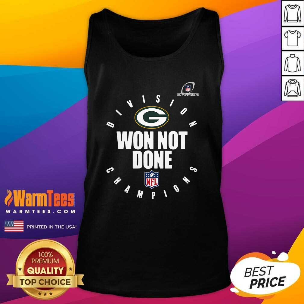 Nfl Playoffs 2020 Won Not Done Division Champions Green Packers Tank Top  - Design By Warmtees.com
