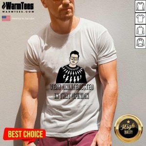 Schitt's Creek David Rose Very Uninterested In That Opinion V-neck - Design By Warmtees.com