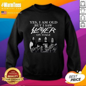 Yes I Am Old But I Saw Slayer On Stage Signatures Hoodie - Design By Warmtees.com
