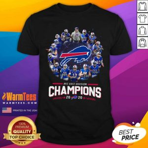 Buffalo Bills AFC East Division Champions 2021 Signatures Shirt - Design By Warmtees.com