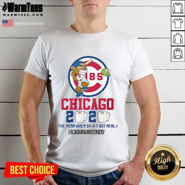 Cubs Chicago Toilet Paper 2020 The Year When Shit Got Real Quarantined Shirt - Design By Warmtees.com