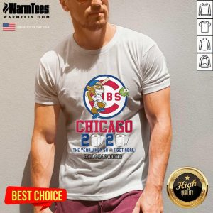 Cubs Chicago Toilet Paper 2020 The Year When Shit Got Real Quarantined V-neck - Design By Warmtees.com