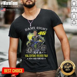 Damn Right 46 I Am A Valentino Rossi Fan Now And Forever Signature V-neck - Design By Warmtees.com