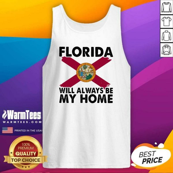 Florida Will Always Be My Home Logo Tank Top - Design By Warmtees.com