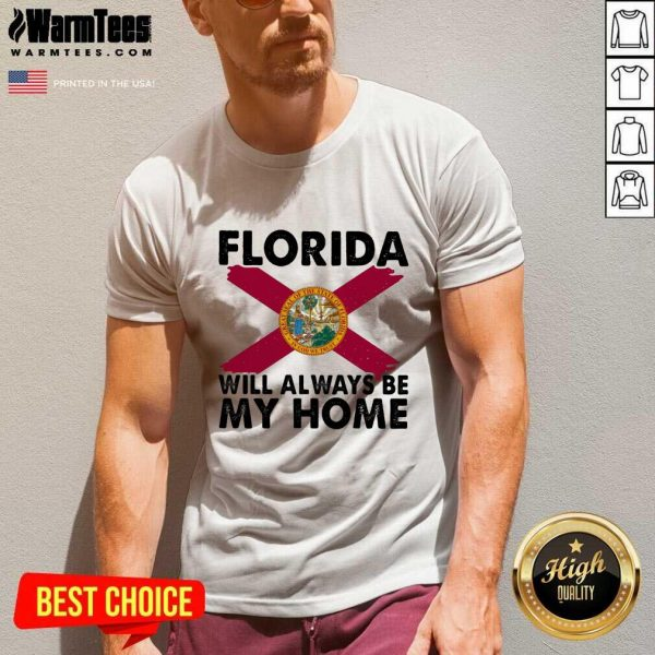 Florida Will Always Be My Home Logo V-neck - Design By Warmtees.com