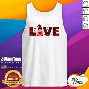 Gnome Love Valentine Tank Top - Design By Warmtees.com