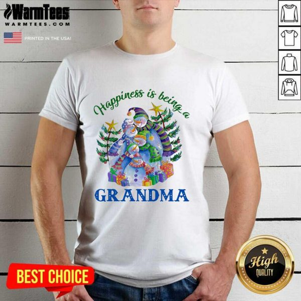 Happiness Is Being A Grandma Shirt - Design By Warmtees.com