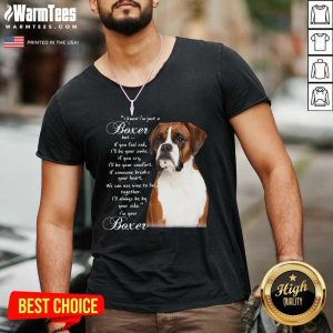 I Know I'm Just A Bull Boxer But If You Feel Sad V-neck - Design By Warmtees.com