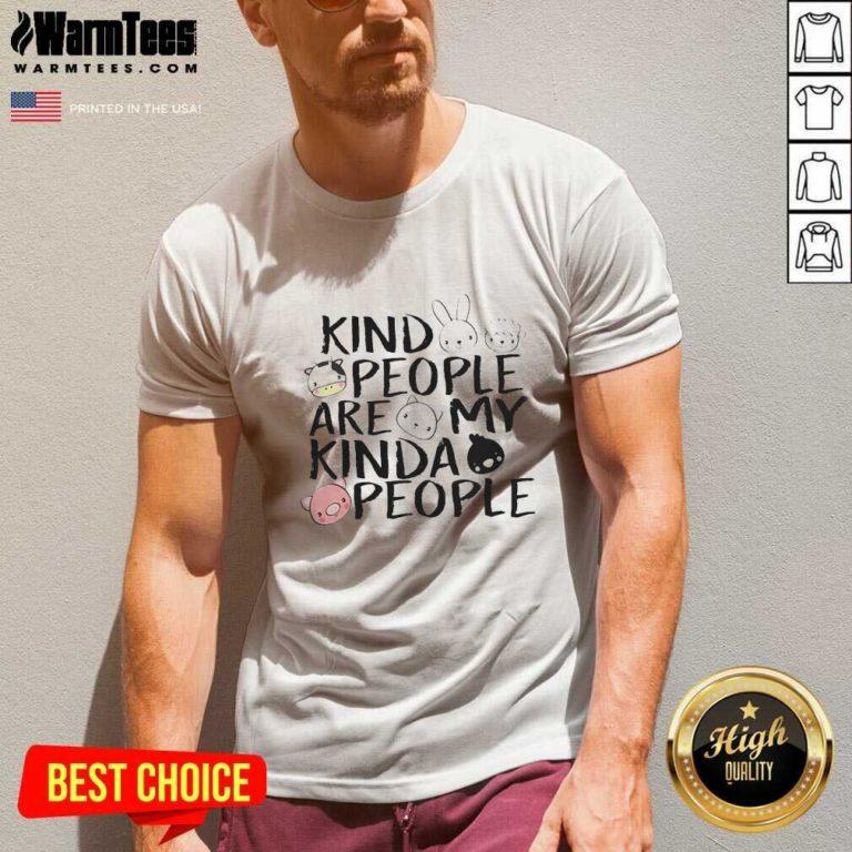 Kind People Are My Kinda People V-neck - Design By Warmtees.com