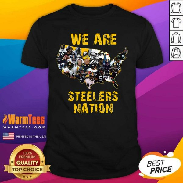 Pittsburgh Steelers We Are Steelers Nation American Map Shirt - Design By Warmtees.com