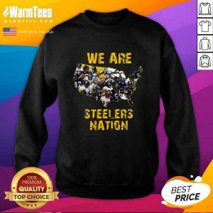 Pittsburgh Steelers We Are Steelers Nation American Map SweatShirt - Design By Warmtees.com