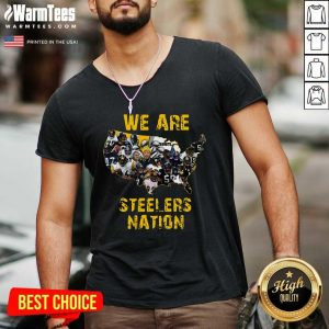 Pittsburgh Steelers We Are Steelers Nation American Map V-neck - Design By Warmtees.com
