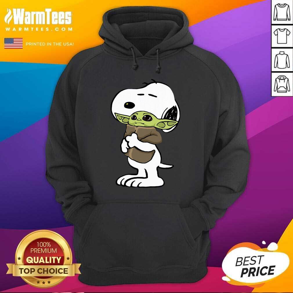 Snoopy Hug Baby Yoda Hoodie  - Design By Warmtees.com