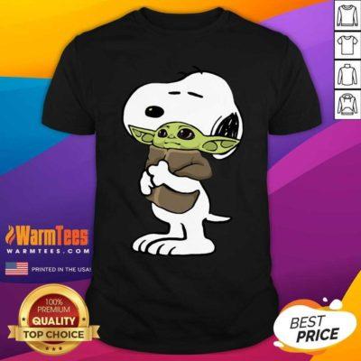 Snoopy Hug Baby Yoda Shirt - Design By Warmtees.com