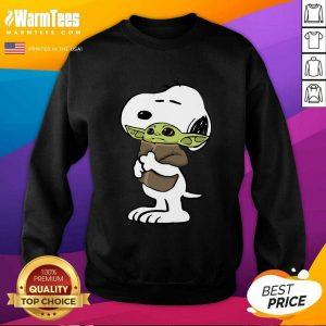 Snoopy Hug Baby Yoda SweatShirt - Design By Warmtees.com