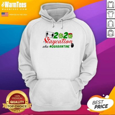 Staycation 2020 Quarantine Face Mask Hoodie - Design By Warmtees.com
