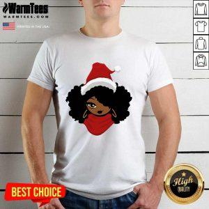 The Black Queen Santa Merry Christmas Shirt - Design By Warmtees.com