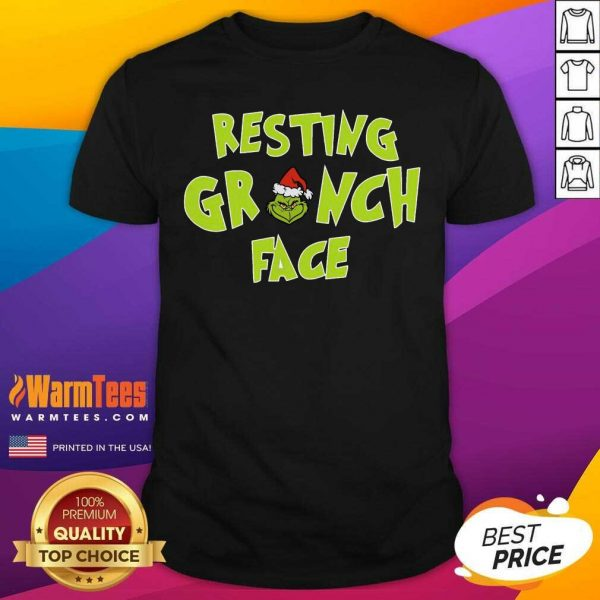 The Grinch Santa Resting Grinch Face Shirt - Design By Warmtees.com