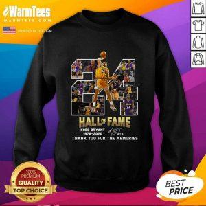 24 Hall Of Fame Kobe Bryant 1978 2020 SweatShirt - Design By Warmtees.com