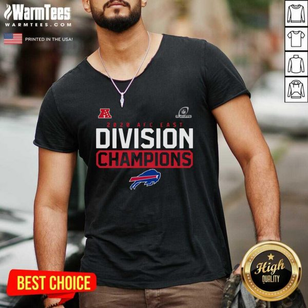 Buffalo Bills 2020 AFC East Division Champions V-neck - Design By Warmtees.com