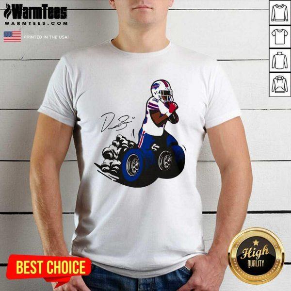 Buffalo Bills Fan Box Devin Singletary Motor Signature Shirt - Design By Warmtees.com